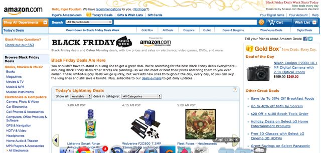 Amazon Black Friday 2012