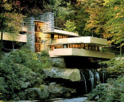 fallingwater american architecture The american institute of architects designated 17 buildings designed by wright to be retained as an 1 frank lloyd wright in fallingwater.