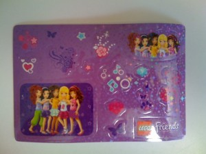 Lego Friends DVD Sticker Sheet