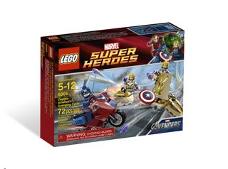 Lego Captain America 6865 Box
